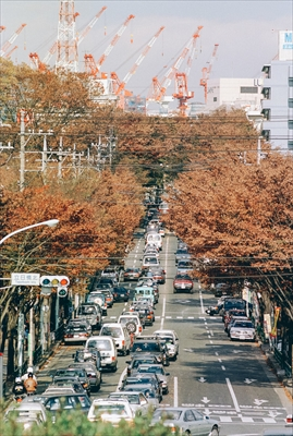 old_tachikawa1998年立日橋北交差点より立川駅を望む