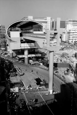 old_tachikawa1998年2月立川駅北口モノレール工事 00